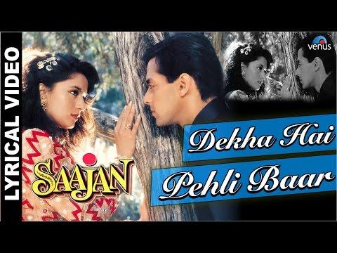 Dekha Hai Pehli Baar Full Song With LYRICS   Saajan   Salman Khan, Madhuri Dixit  