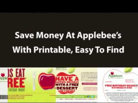 Applebee's August 2012 Coupons