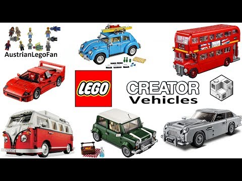 Lego Creator Expert Vehicles 2011 - 2018 Compilation of all Sets
