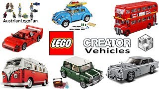 All Lego Creator Expert Vehicles 2011 - 2018 - Lego Speed Build Review