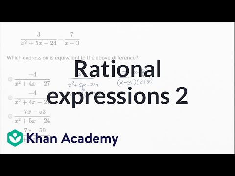 Operations With Rational Expressions — Harder Example | Math | New SAT | Khan Academy