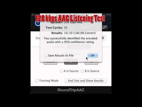 Listening Test: 128 kbps & iTunes Plus