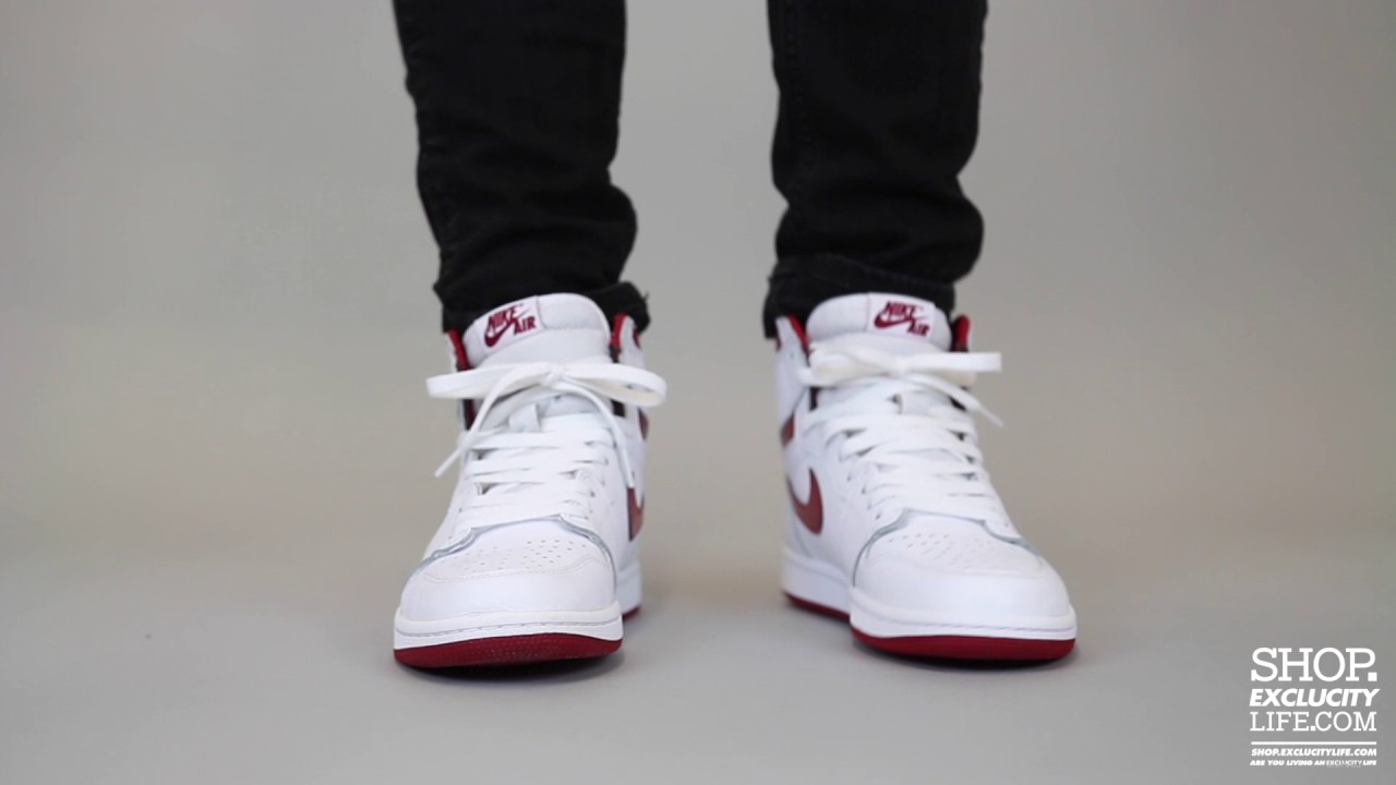 bcbfdf2d2ac5 Air Jordan 1 Retro OG High - Metallic Red On-feet Video at Exclucity ...