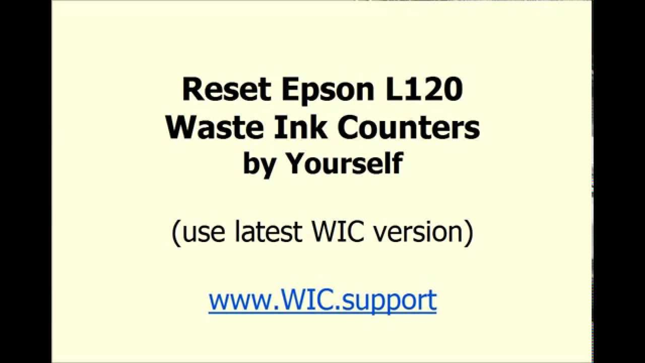 WIC Reset Utility - for Waste Ink Pad Counter reset - Service