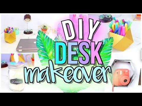 DIY Desk MAKEOVER (Decor + Organization) | JENerationDIY