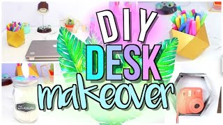 DIY Desk Decor + Organization | Desk Area Makeover | JENerationDIY