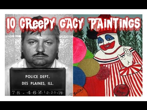 10 Creepy Nightmare Fuel Paintings by John Wayne Gacy