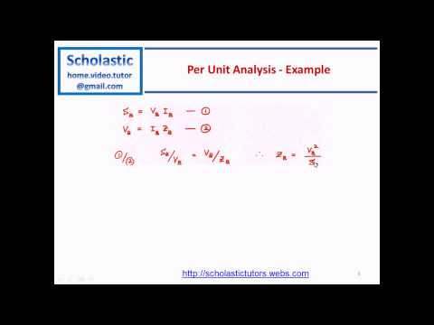 Per Unit Analysis for Power Systems and Smart Grid Studies - #01
