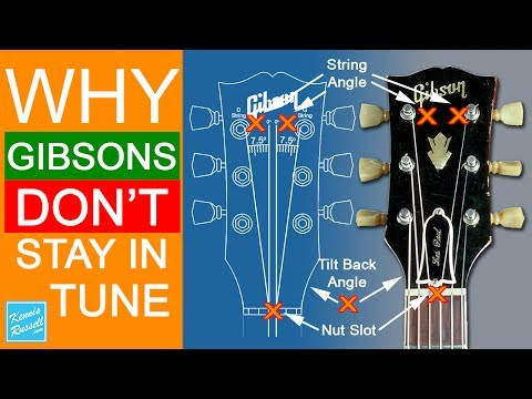 Why Gibson Guitars Go Out of Tune So Easy
