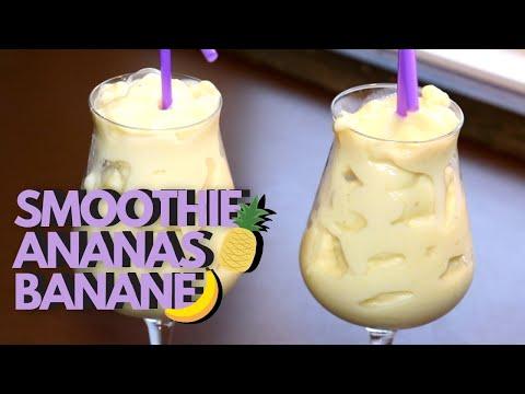 smoothie-banane-ananas---facile,-froid-&-rafraîchissant---recette-#227