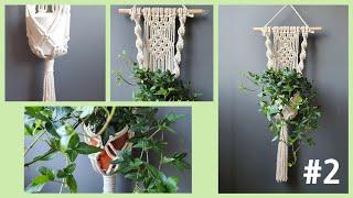 Macrame plant hanger basic2 초보…