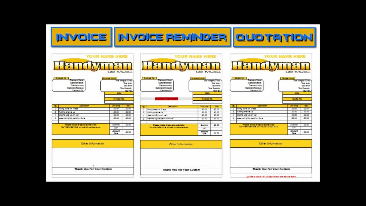 Handyman Flyers YouTube