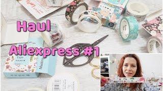 Zakupy z Aliexpress haul (washi tape, kreatywne, naklejki)