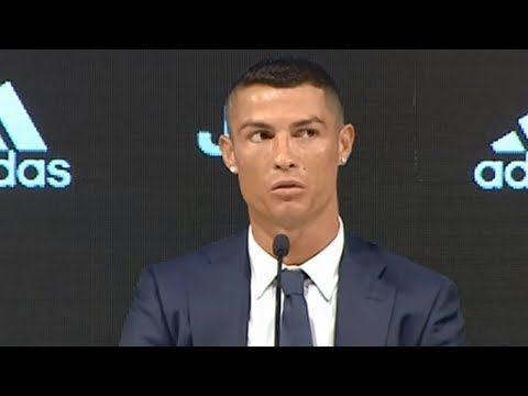 Cristiano Ronaldo se olvida del Real Madrid en la presentación con Juventus