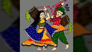 Navaratri special rangoli..9 to 9 dots..dushara special..