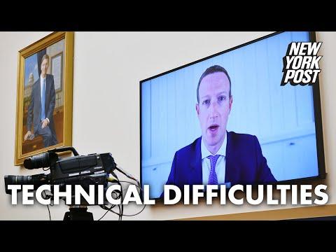 Facebook CEO Mark Zuckerberg has technical difficulties at Big Tech hearing | New York Post