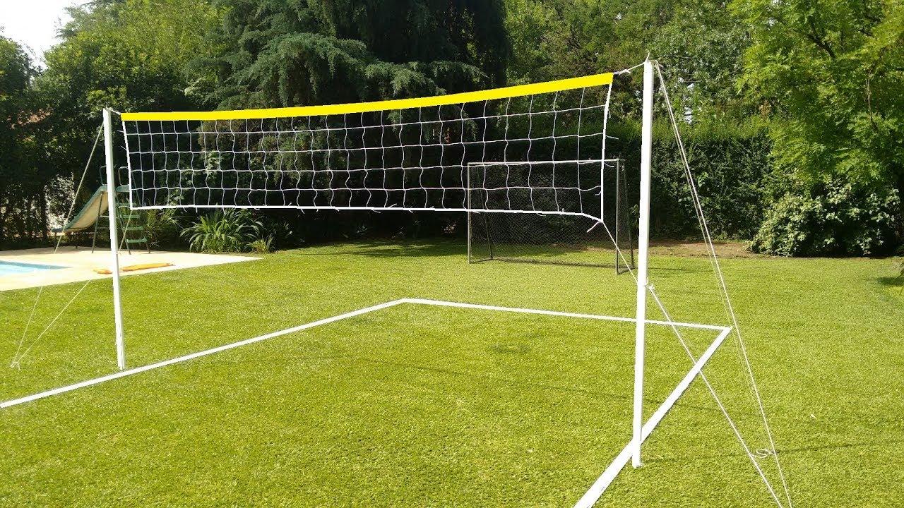 Instalacion Montaje De Kit Cancha De Futbol Tenis Voley Youtube