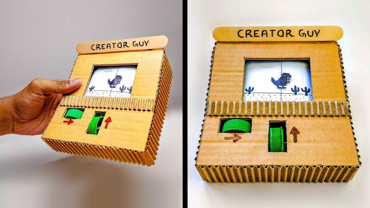 How To Make Google T Rex Runner Game From Cardboard Diy