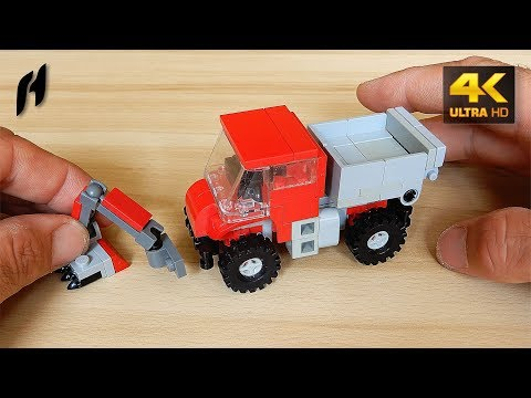 How To Build Lego Mercedes-Benz Unimog With Front Mower (MOC)