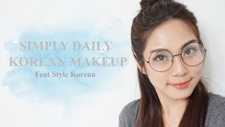 Video Simply Daily Korean Makeup feat. Style Korean | Trixie Wilona (Bahasa Indonesia) download MP3, 3GP, MP4, WEBM, AVI, FLV Desember 2017