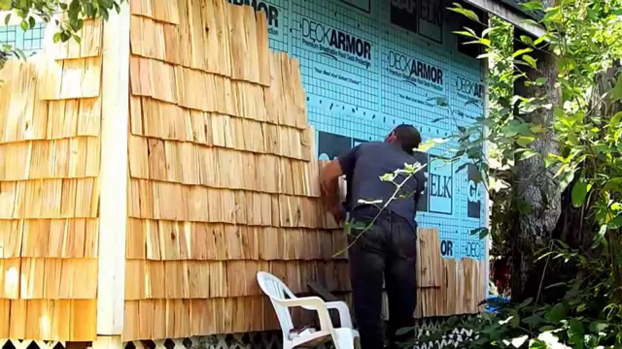 How To Hand Made Cedar Shingles Siding For My Cabin