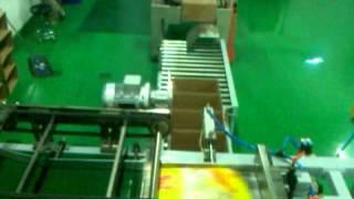 Автоматическая укладка продукта в гофрокороба(Консолидирующая линия и укладка пакетов риса в короба по кол-ву., 2013-04-24T12:05:48.000Z)