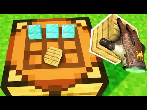 Realistic CRAFTING in Minecraft!