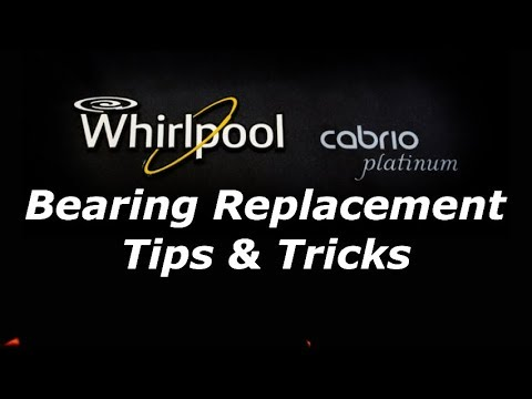 Whirlpool Cabrio Maytag Bravos Washer Bearing Removal And