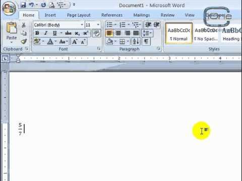 Sử dụng công thức toán học trong Word 2007
