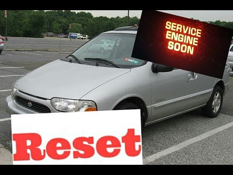 How To Reset Service Engine Soon Light On A 2000 Nissan Quest Youtube