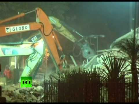 Brazil building collapse: Video of Rio tragedy aftermath