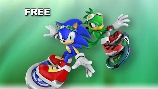 [SONIC KARAOKE] Sonic Free Riders - Free (Crush 40) [HD]