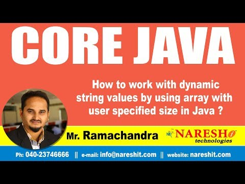 How to work with dynamic string values by using array with user specified size in Java ?