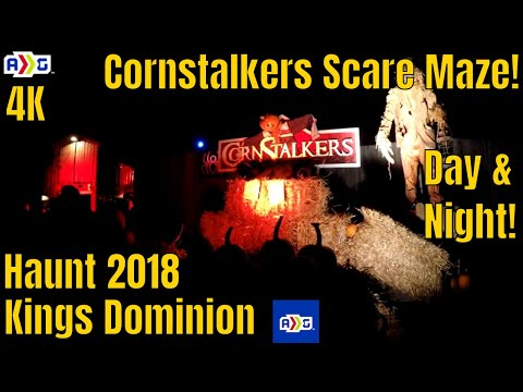 Cornstalkers Scare Maze | Haunt 2018 | Kings Dominion | 4K |