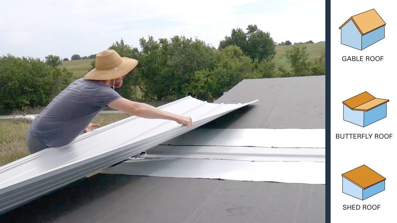 DIY Tiny House Butterfly Roof Construction