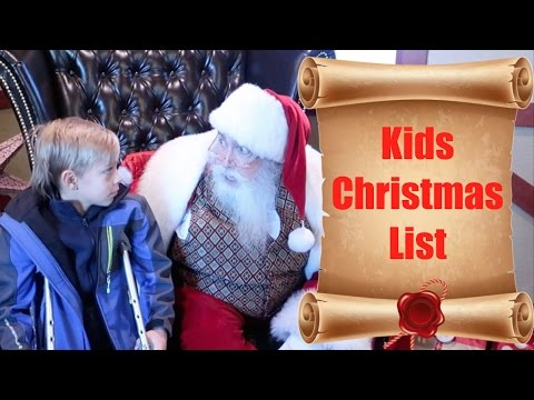 🎅📜KIDS CHRISTMAS WISH LIST AND TELLING SANTA CLAUS WHAT THEY WANT FOR CHRISTMAS🎄 | DYCHES FAM
