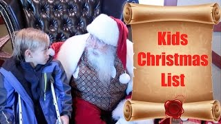 Kids Christmas Wish List and Telling Santa What They Want For Chris...