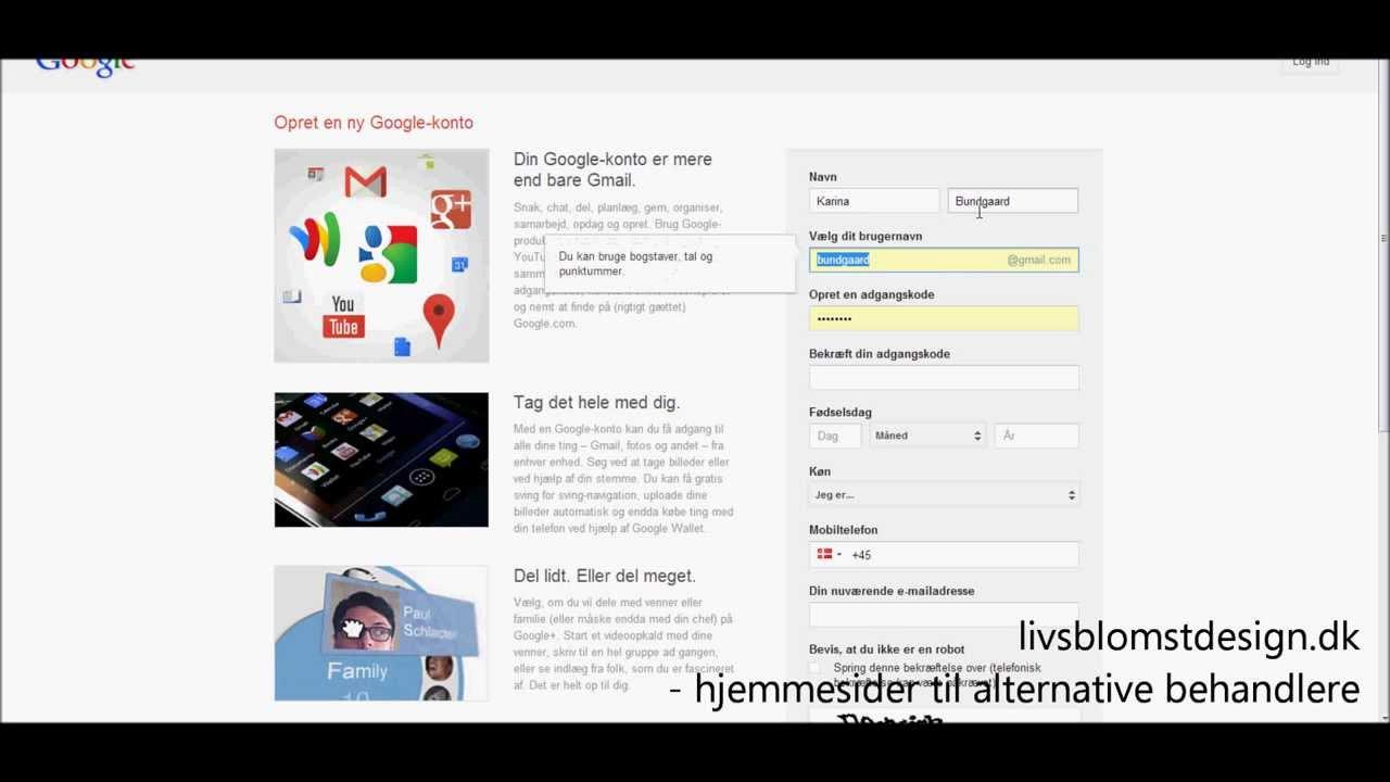 gmail opret