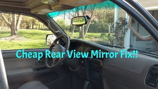 How to Repair a Rear View Mirror that Fell Off - Very Inexpensive