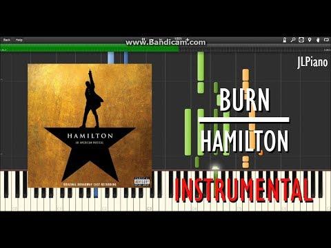 Burn (Instrumental) - Hamilton (Synthesia Piano Backing) *SHEET MUSIC*