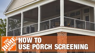 advantages of screen tight porch screening the home depot