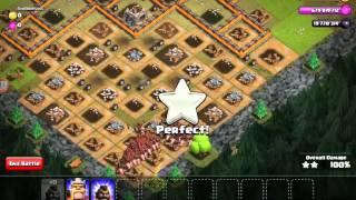 BoomKiller441 - Clash of Clans 400 level 5 HOG RIDER ATTACK!!!!!!