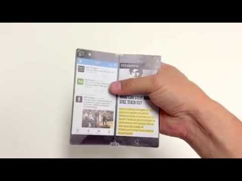 Lunark bi-fold screen smartphone