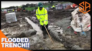 ON SITE... BIG FOUNDATION ...PART 1...TRENCH BLOCKS