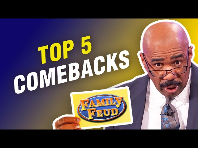 Top 5 Fast Money COMEBACKS on Family Feud! Steve Harvey can't believe it!