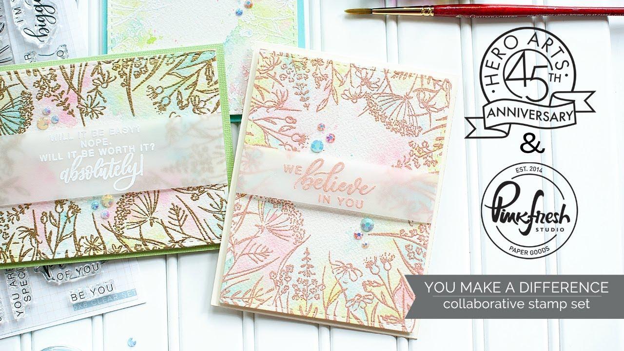 "Pinkfresh Studio Clear Stamp Set 6/""X8/""-Sweet Treats"