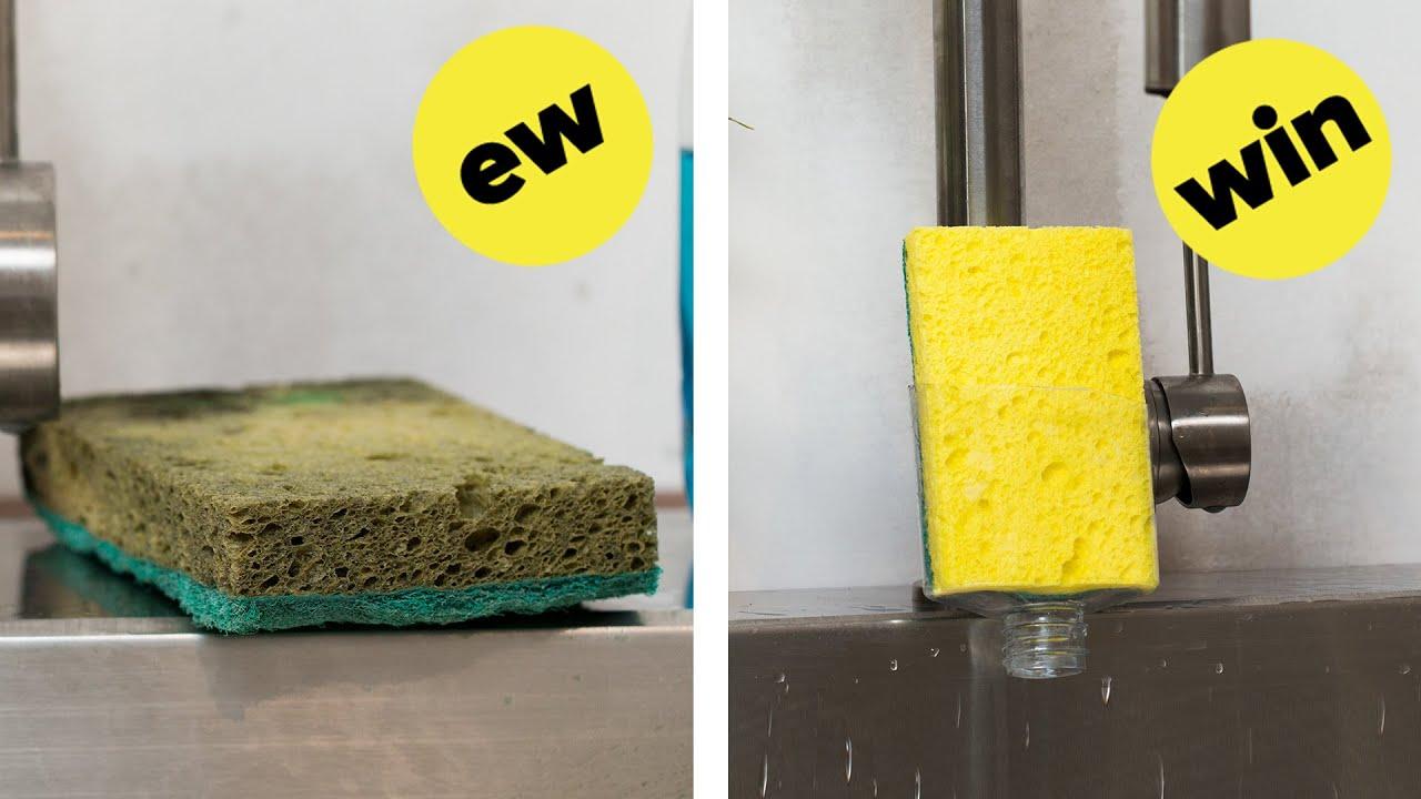 Easy Upcycled Sponge Holder
