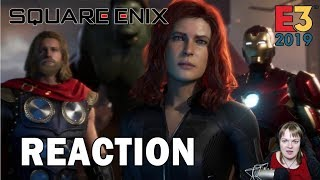 E3 Reactions - Marvel's Avengers World Premiere REVEAL (Square Enix Conference 2019)