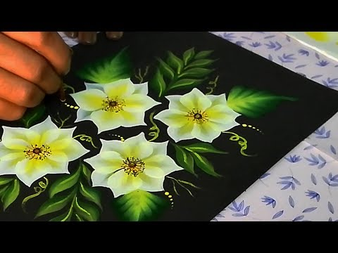 One Stroke Painting For Beginners | One Stroke Painting Techniques | Acrylic Flower Painting