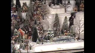 Time lapse of Christmas Village being built